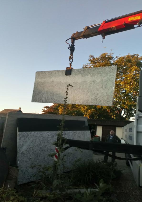 Livraison tranche de granit